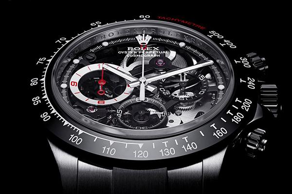 巴里切罗前F1赛车手定制改装劳力士迪通拿镂空腕表